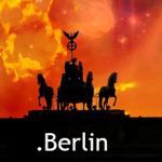 Das Brandenburger Tor mit rotem Himmel im Hintergrund